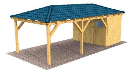 holz carport carports aus holz traditionelle bauweise. Black Bedroom Furniture Sets. Home Design Ideas