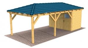 Walmdach Carport 2