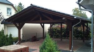 Carport HolzSatteldach braun