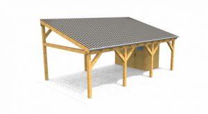 mhb carports holz carport terrassen berdachung vordach montage bausatz. Black Bedroom Furniture Sets. Home Design Ideas