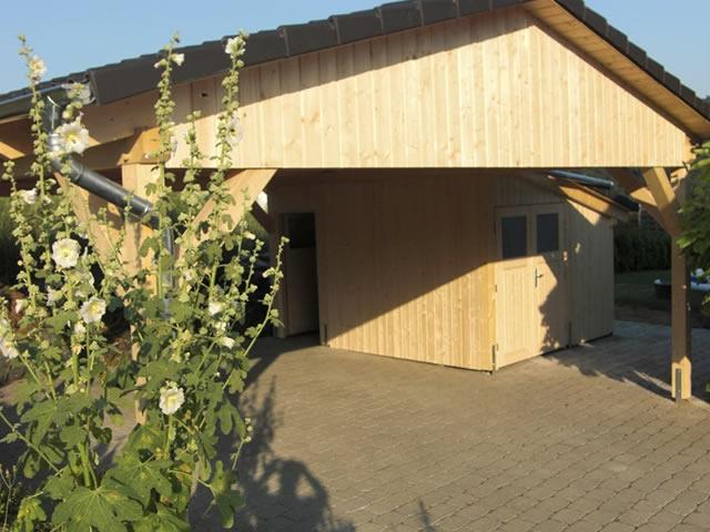 Satteldach Carport Berlin Brandenburg bauen und fertigen lassen