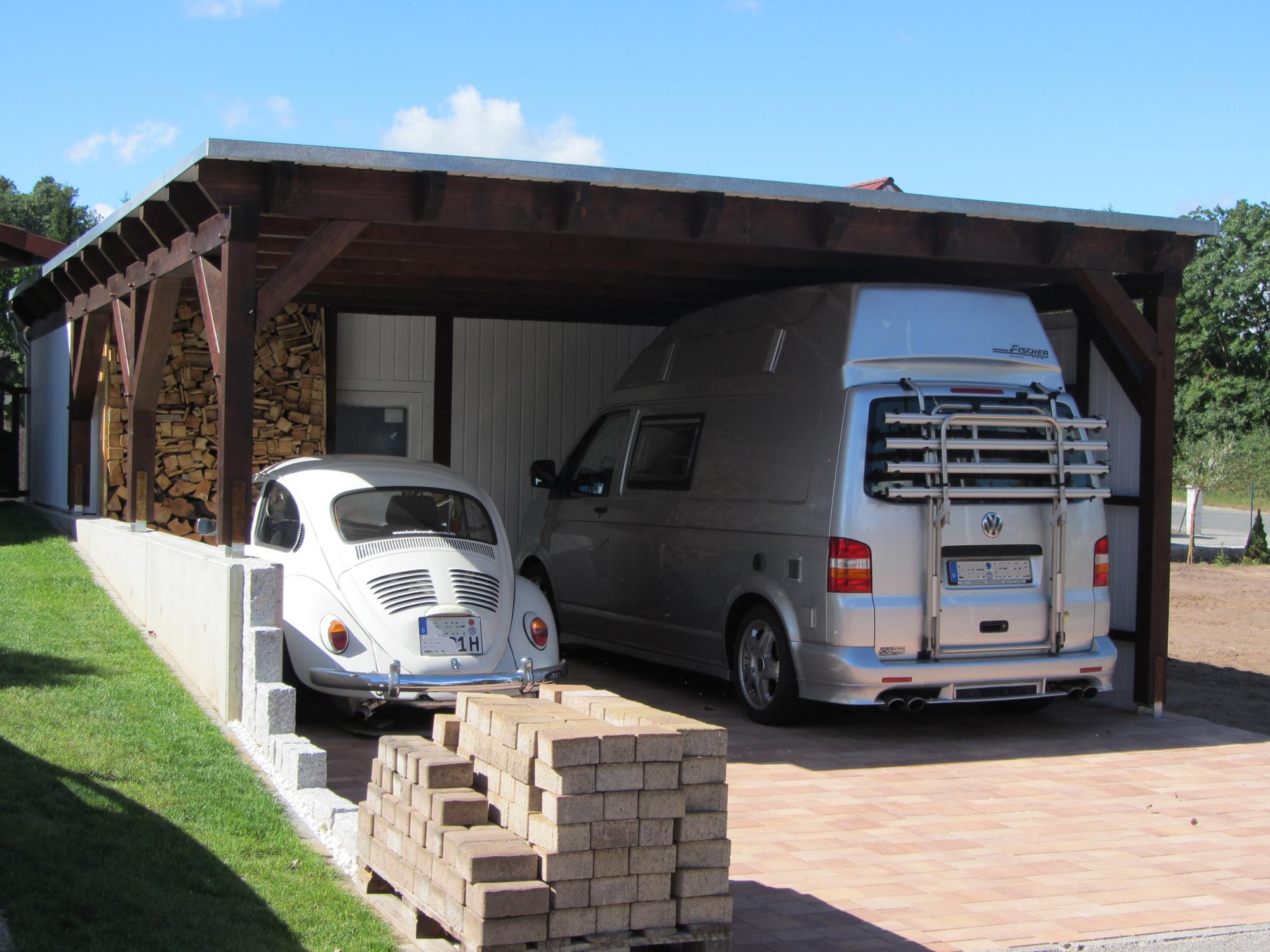 doppelgarage carport mit pultdach